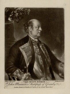 John Manners, Marquess of Granby, by Richard Houston, printed for  Bowles & Carver, after  Sir Joshua Reynolds - NPG D2649