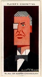 Sir (Joseph) Austen Chamberlain, by Alexander ('Alick') Penrose Forbes Ritchie - NPG D2661