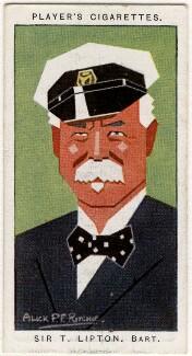 Sir Thomas Johnstone Lipton, 1st Bt, by Alexander ('Alick') Penrose Forbes Ritchie - NPG D2676