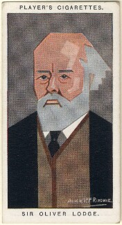 Sir Oliver Joseph Lodge, by Alexander ('Alick') Penrose Forbes Ritchie - NPG D2678
