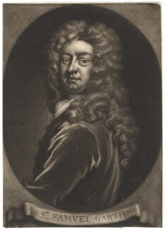 Sir Samuel Garth, by John Simon, after  Sir Godfrey Kneller, Bt - NPG D2749