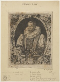 John Gerard, by William Rogers, after  Unknown artist, published 1598 - NPG D2755 - © National Portrait Gallery, London