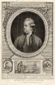 Edward Gibbon, by John Hall, after  Sir Joshua Reynolds - NPG D2758
