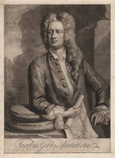 James Gibbs, by Peter Pelham, sold by  Edward Cooper, after  Hans Hysing, 1727 or before - NPG D2761 - © National Portrait Gallery, London