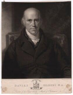 Davies Gilbert, by Samuel Cousins, after  Henry Howard, 1828 - NPG D2766 - © National Portrait Gallery, London