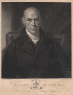 Davies Gilbert, by Samuel Cousins, after  Henry Howard, 1828 - NPG D2767 - © National Portrait Gallery, London