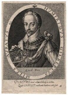 Sir Humphrey Gilbert, by Magdalena de Passe, or by  Willem de Passe - NPG D2771