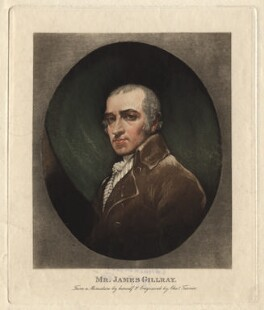 James Gillray, by Charles Turner, after  James Gillray, circa 1819 (circa 1800) - NPG D2775 - © National Portrait Gallery, London