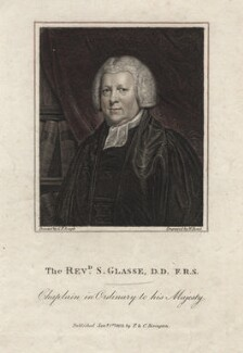 Samuel Glasse, by William Bond, after  George Francis Joseph - NPG D2779