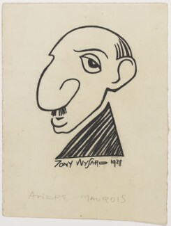 André Maurois, by Anthony Wysard - NPG D280