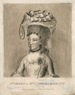 Jane Green (née Hippisley) as Mrs Cadwallader, published by John Hippisley Green, probably after  James Roberts - NPG D2803
