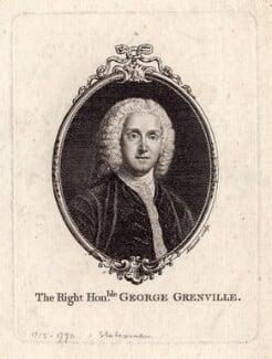 George Grenville, by François-Germain Aliamet, after  William Hoare - NPG D2809