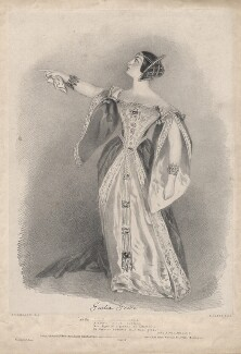 Giulia Grisi as Anna Bolena, by Richard James Lane, printed by  Graf & Soret, published by  John Mitchell, published by  Rittner & Goupil, after  Alfred Edward Chalon - NPG D2823