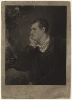 Lord Byron, by Charles Turner, published by  Anthony Molteno, after  Richard Westall - NPG D2831