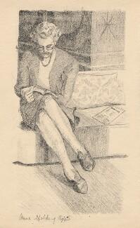Barbara Jackson (née Ward), Baroness Jackson, by Anne Spalding - NPG D2897
