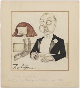 Henry Ludwig Mond, 2nd Baron Melchett; (Amy) Gwen Mond (née Wilson), Lady Melchett, by Anthony Wysard - NPG D290