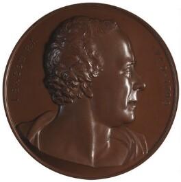 John Bacon the Elder; Samuel Johnson (on reverse), by Joseph Shepherd Wyon, and after  John Bacon the Elder - NPG D2907