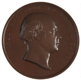 Sir Francis Leggatt Chantrey; James Watt (on reverse), by William Wyon, after  William Bain, and after  Sir Francis Leggatt Chantrey, 1843 - NPG D2912 - © National Portrait Gallery, London