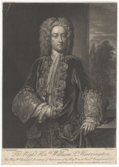 William Stanhope, 1st Earl of Harrington, by John Faber Jr, after  John Fayram - NPG D2943