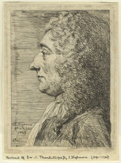 Unknown sitter formerly called Sir James Thornhill, by Joseph Highmore - NPG D2944