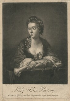 Lady Selina Hastings, by Richard Houston, after  Sir Joshua Reynolds - NPG D2958