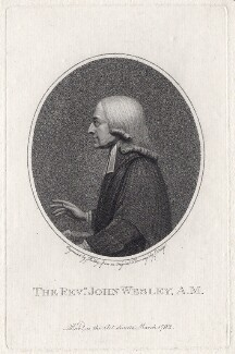 John Wesley, by William Ridley, after  Henry Edridge - NPG D2979