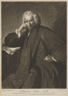 Laurence Sterne, by Edward Fisher, printed for  Robert Sayer, after  Sir Joshua Reynolds, (1760) - NPG D2980 - © National Portrait Gallery, London