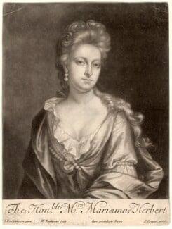 Mariamne Herbert (née Finch), by William Faithorne Jr, after  Johann Kerseboom - NPG D2985