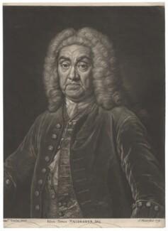John James Heidegger, by John Faber Jr, after  Jean Baptiste van Loo - NPG D2998