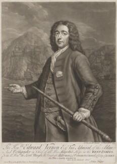 Edward Vernon, by John Faber Jr, after  Thomas Bardwell - NPG D3025