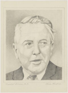 Harold Wilson, by Alex Minter - NPG D3027