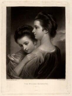 Catherine Bunbury (née Horneck); Mary Gwyn (née Horneck), by Samuel William Reynolds, after  Sir Joshua Reynolds - NPG D3030