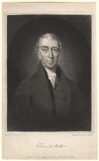 David Holt, by Samuel William Reynolds Jr, after  Charles Allen Duval - NPG D3037