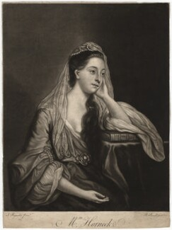 Hannah Horneck (née Triggs), by Richard Purcell (H. Fowler, Charles or Philip Corbutt), after  Sir Joshua Reynolds - NPG D3044