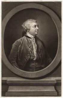 Sir John Hill, by Richard Houston, after  Francis Cotes - NPG D3047