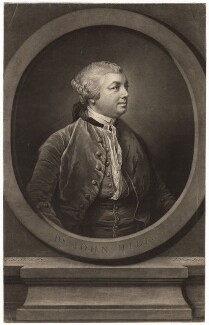 Sir John Hill, by Richard Houston, after  Francis Cotes - NPG D3048