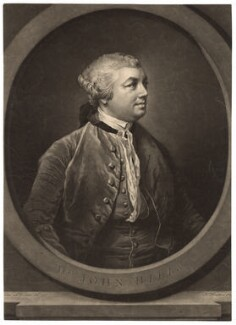 Sir John Hill, by Richard Houston, after  Francis Cotes - NPG D3049