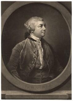 Sir John Hill, by Richard Houston, after  Francis Cotes - NPG D3049
