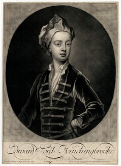 Edward Montagu, Viscount Hinchingbrooke, by John Smith, after  Sir Godfrey Kneller, Bt - NPG D3052