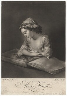 Miss Hoare, by John Faber Jr, after  William Hoare - NPG D3061
