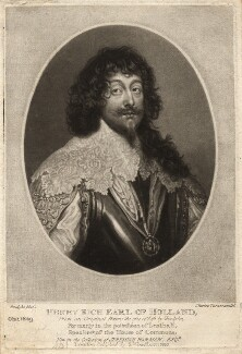 Henry Rich, 1st Earl of Holland, by Charles Turner, published by  Samuel Woodburn, after  Sir Anthony van Dyck - NPG D3067