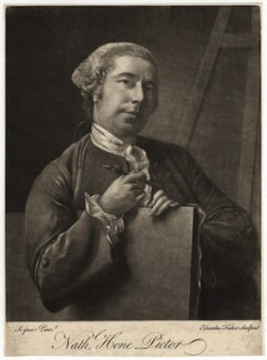 Nathaniel Hone, by Edward Fisher, after  Nathaniel Hone, (circa 1760) - NPG D3074 - © National Portrait Gallery, London