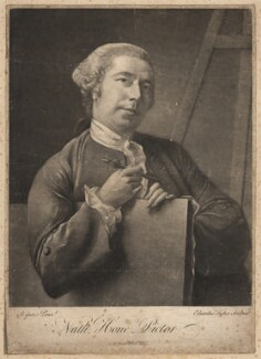 Nathaniel Hone, by Edward Fisher, after  Nathaniel Hone, (circa 1760) - NPG D3076 - © National Portrait Gallery, London