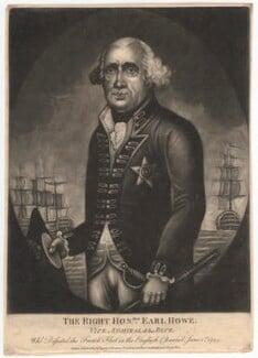 Richard Howe, 1st Earl Howe, after Unknown artist - NPG D3114