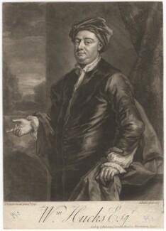 William Hucks, by John Faber Jr, after  John Vanderbank - NPG D3118