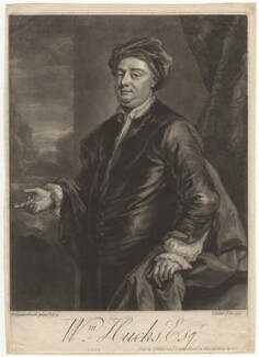 William Hucks, by John Faber Jr, after  John Vanderbank - NPG D3119