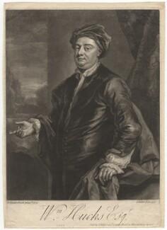 William Hucks, by John Faber Jr, after  John Vanderbank - NPG D3119