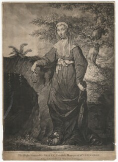 Selina Hastings, Countess of Huntingdon, published by Carington Bowles, after  John Russell - NPG D3128