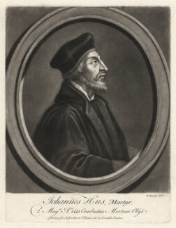 John Hus, by John Faber Sr, by  Richard Houston, after  Unknown artist - NPG D3129