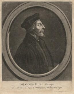 John Hus, by John Faber Sr, after  Unknown artist - NPG D3130
